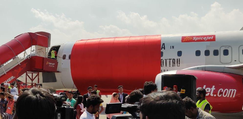 SpiceJet Aircraft branding...for #SooraraiPottru