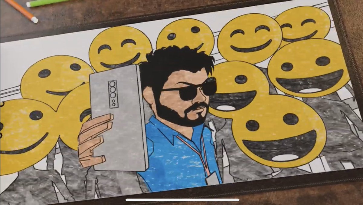 Intha Animation namba listlaye illaye 🤔... One of the most interesting lyric video in Tamil Cinema ... That selfie moment capture , vera level 🤩 ...    Chill Fun Track -  #KuttiKathai #Kuttystory #MasterSingleTrack