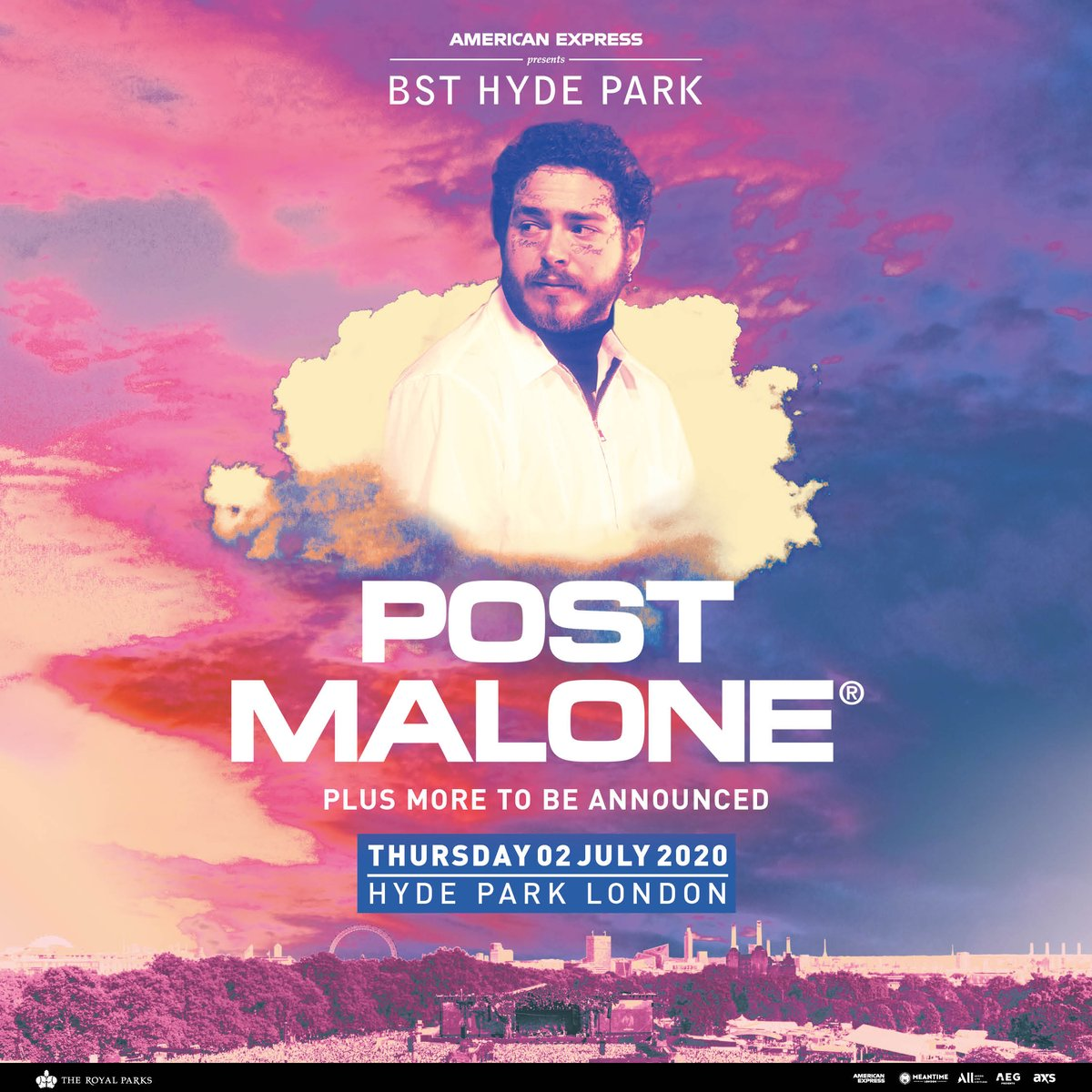 POSTY!!! @PostMalone has just been announced to perform at @BSTHydePark! 👏  Tickets go are om sale this HERE 👉 👈  #PlayKISSFM 🔈