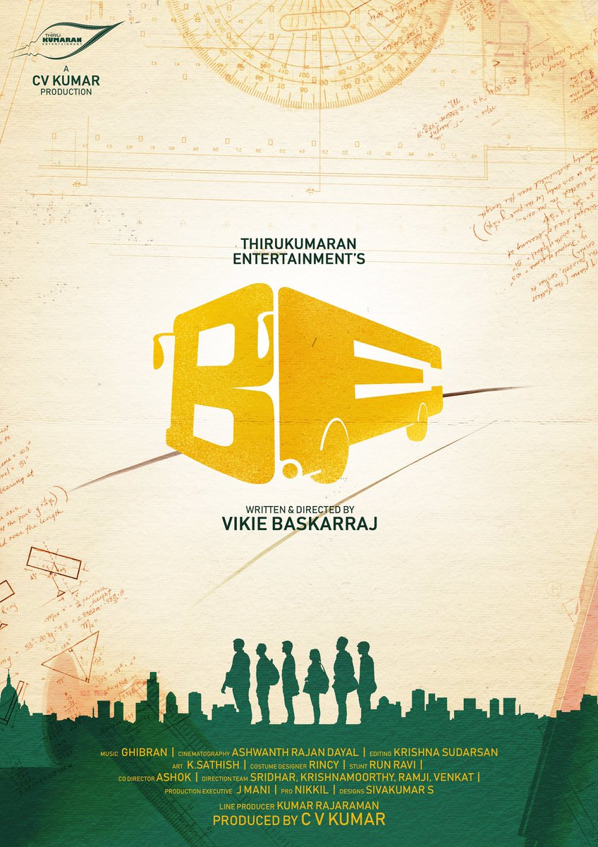 Check out the title look of @icvkumar's #ProductionNo20 titled as #BE   #BETitleLook   #VikieBaskarRaj @ammu_abhirami #SmritiVenkat @Ghibranofficial