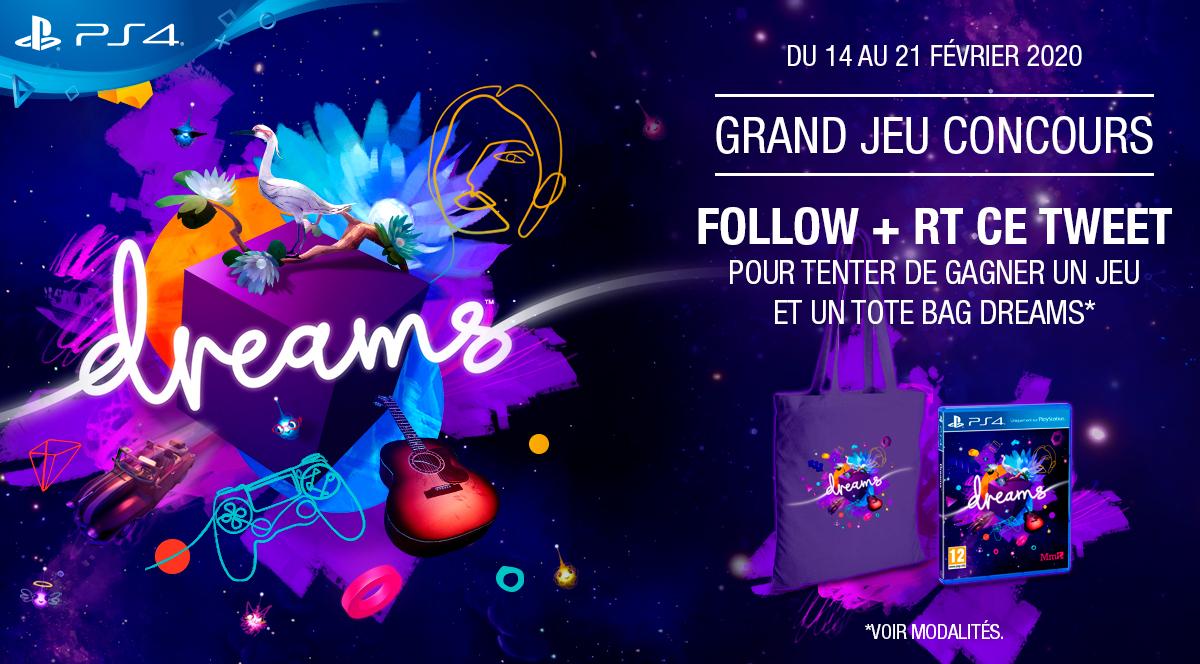 #Jeu #Concours A l'occasion de la #SaintValentin, RT + follow pour tenter de remporter votre jeu #DreamsPS4 et votre tote-bag pour construire l'univers de vos rêves !  Craquez vite ▶️  Règlement ▶️