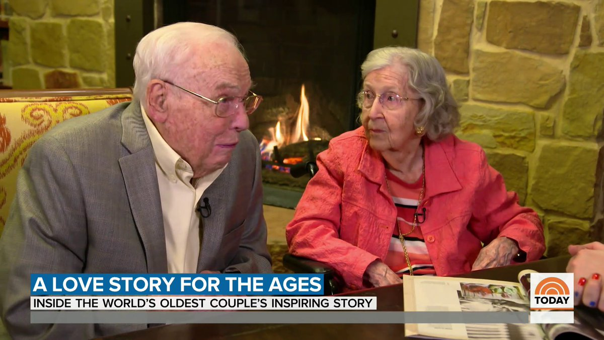 """""""Time does fly.""""  This Valentine's Day, @JennaBushHager sits down with John and Charlotte Henderson, the world's oldest married couple with an incredible love story."""