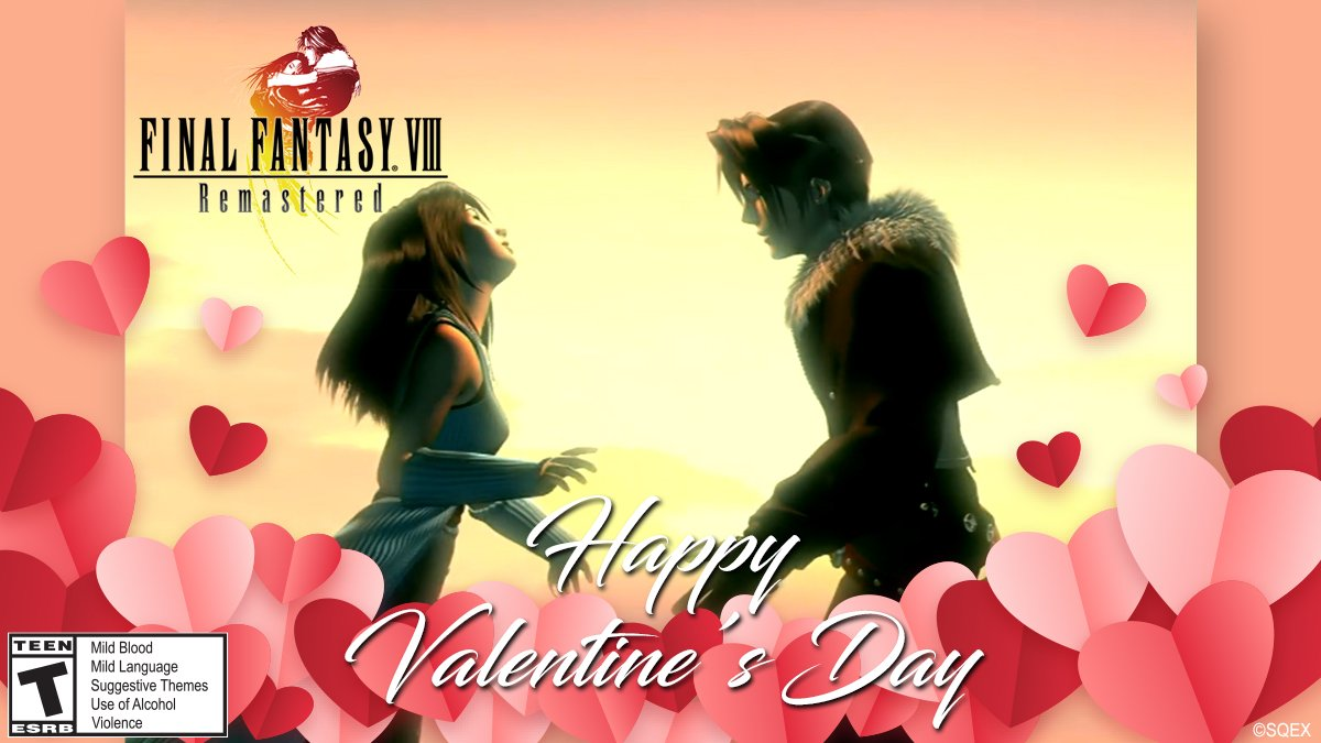 Hoy tampoco podía faltar una felicitación de Squall y Rinoa de #FFVIIIRemastered.  💖💖 I'll be waiting for you. If you come here, you'll find me. I promise. 💖💖