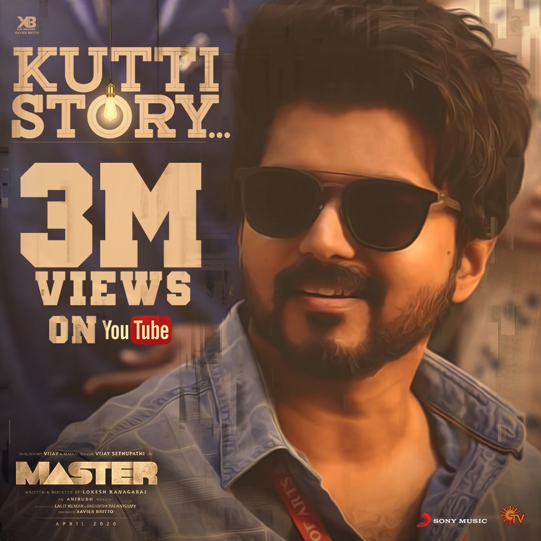 3 Million plus views for #KuttiStory 🤗🤗🙏🏻