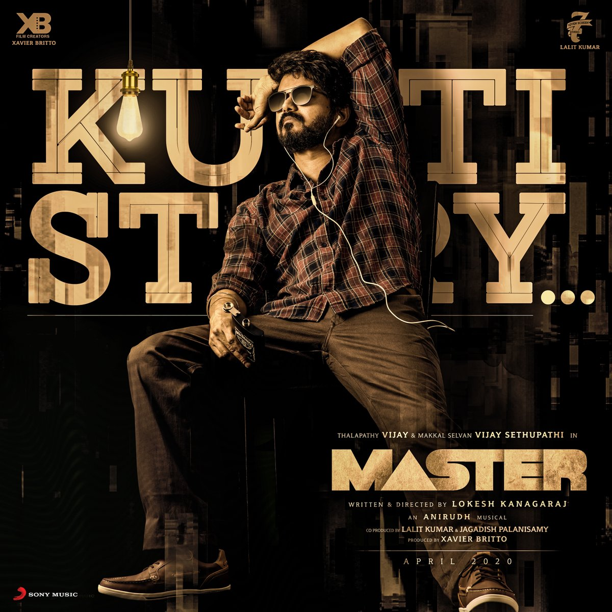 Life is a #KuttiStory, Nanba! So, stream this track now  @Sonymusicsouth @actorvijay @VijaySethuOffl @Dir_Lokesh @XBFilmCreators @anirudhofficial @Jagadishbliss @MalavikaM_ @imKBRshanthnu