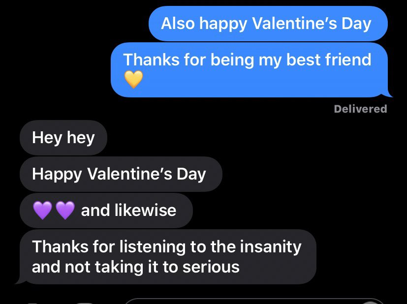 Sometimes you just need to celebrate your friends on valentines 💛