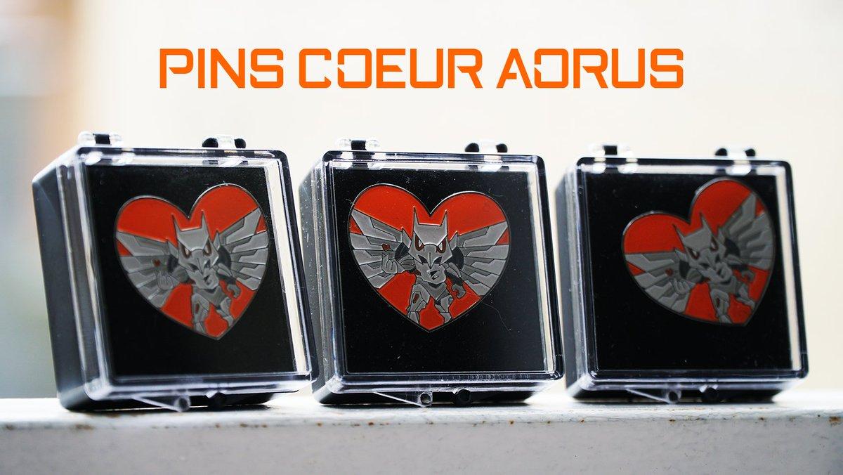 💕 Partagez de l'amour pour ce 14 février 💕  Nous vous offrons 4 Pins 🧡 #AORUS  🦅.  🔸 Follow @AORUS_France  🔸 RT ce tweet 🔸 Commente avec un 🧡  🗳 Tirage au sort demain !
