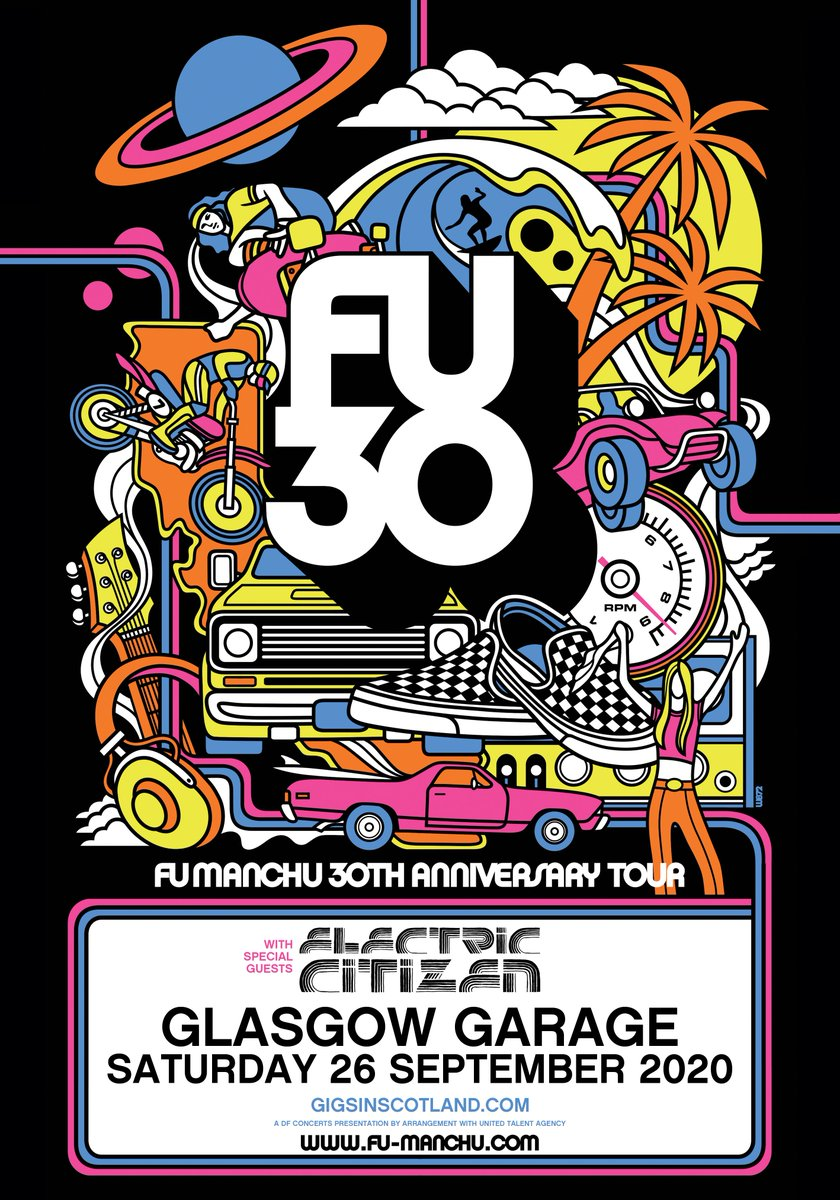 ANNOUNCEMENT » @Fufanumusic  is coming to @Garageglasgow with support from Electric Citizen! Tickets on sale Friday at 10am!  TICKETS ⇾