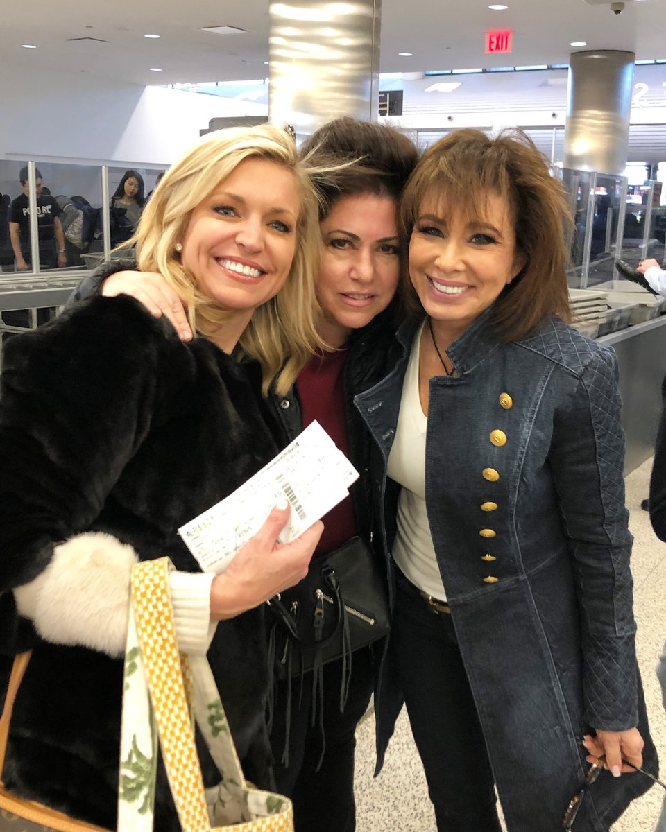 With @ainsleyearhardt and Suzanne Timpano at LaGuardia. Heading to Daytona!