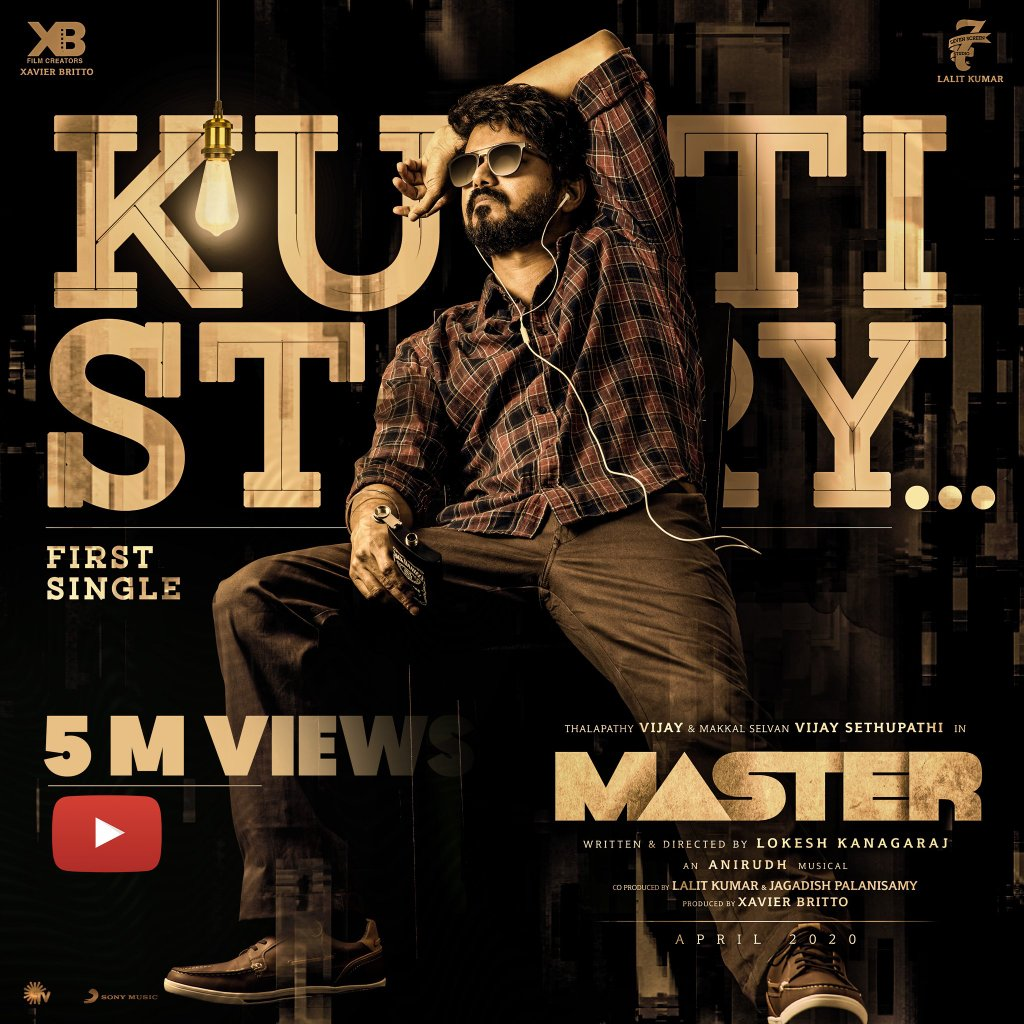 It's raging through the Internet like we would have guessed it would! 😎 What a kutti story it has been so far!💥  #OruKuttiKathai #KuttiStory #MasterSingle #Master