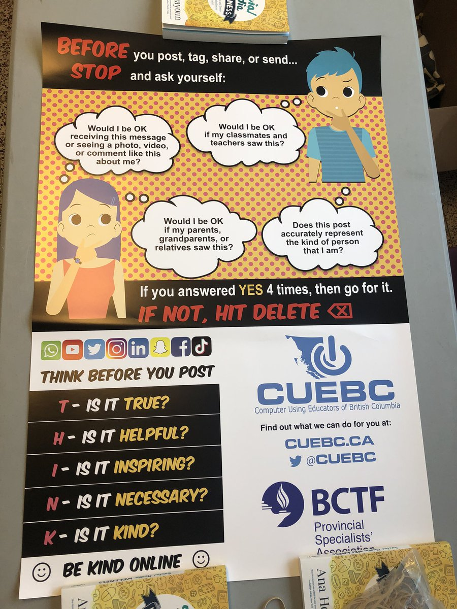 test Twitter Media - Attending @gvta #Tapestry ? Come by our booth and pick up a free classroom poster! Registration is now open for the #cuebc conference in November: https://t.co/5M2E1y3XQH https://t.co/oCQwYnywYZ