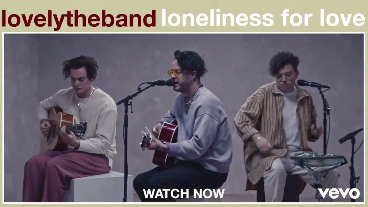 """Mitchy, Sam and Jordan of @lovelytheband are true melody maestros and hairstyle mavens. If you're not feeling the vibes today check out their live performance of """"loneliness for love"""" now! 💔 ⠀⠀⠀⠀⠀⠀⠀⠀⠀ ▶️"""