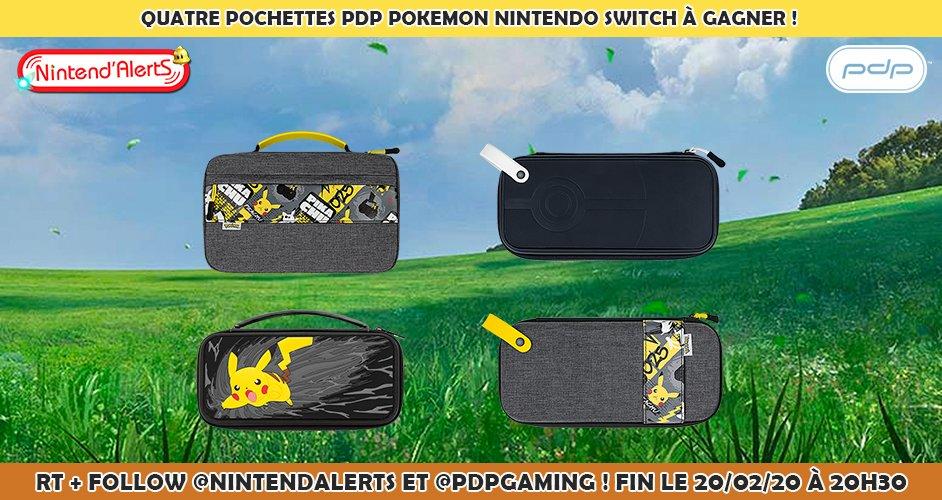 Concours : 4 pochettes PDP Pokémon Nintendo Switch à gagner ! Follow @nintendalerts et @PDPgaming + RT ce tweet et tague un ami. Fin le 20 février 2020. Conditions pour participer au concours ►