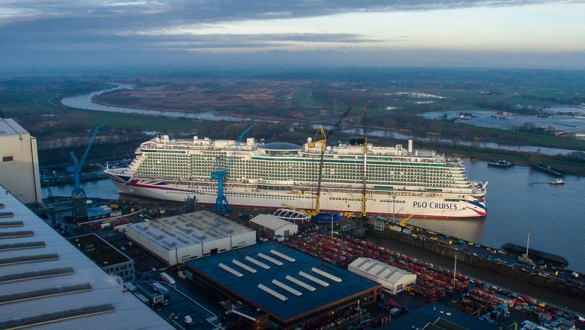 .@pandocruises #Iona looking incredible as her Southampton arrival edges ever closer 🙌