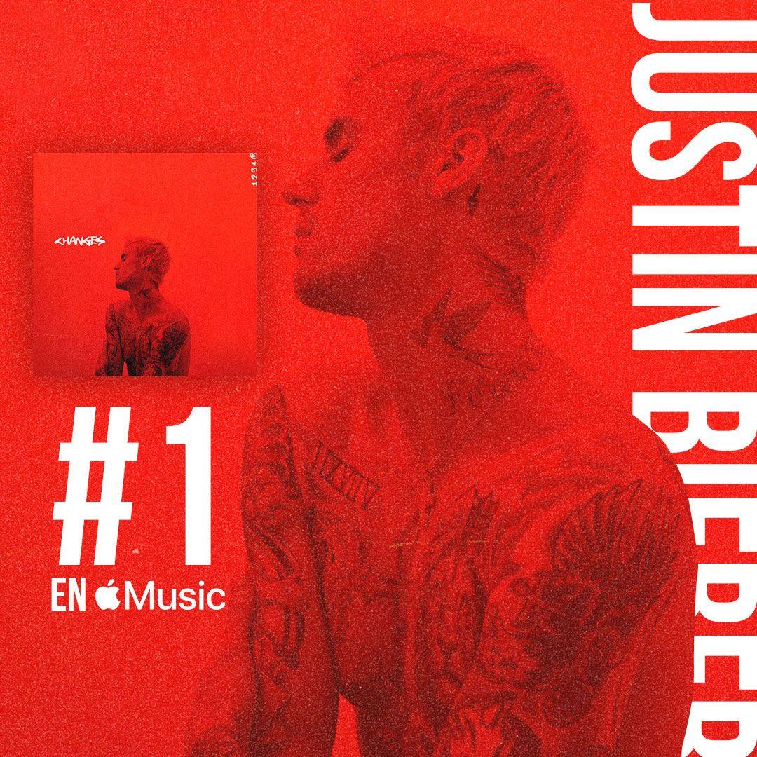 ¡El nuevo álbum de @justinbieber está siendo un éxito! 👌 Ya es #1 en @AppleMusicES ❤️
