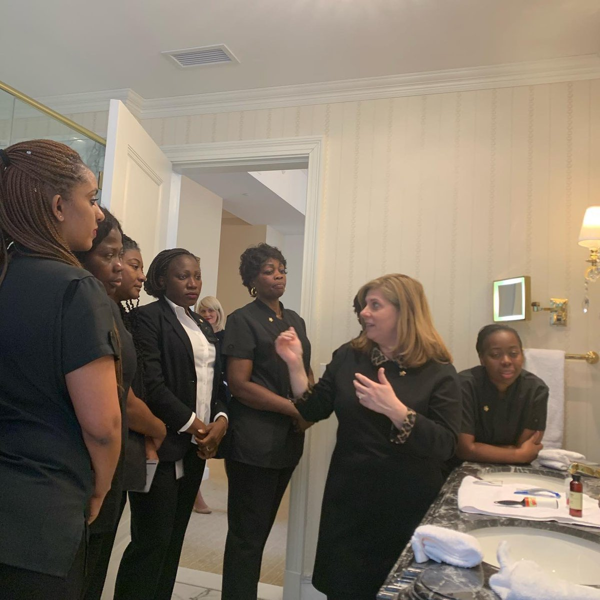 A few more action shots from our @ForbesInspector 5 star training this week..Here are a few shots with our Room Attendants...#bestteam #housekeeping #teamwork #training #success #neversettle #hardwork #WashingtonDC #trump #onlyfivestarhoteldowntowndc #doitbetterthananyoneelse