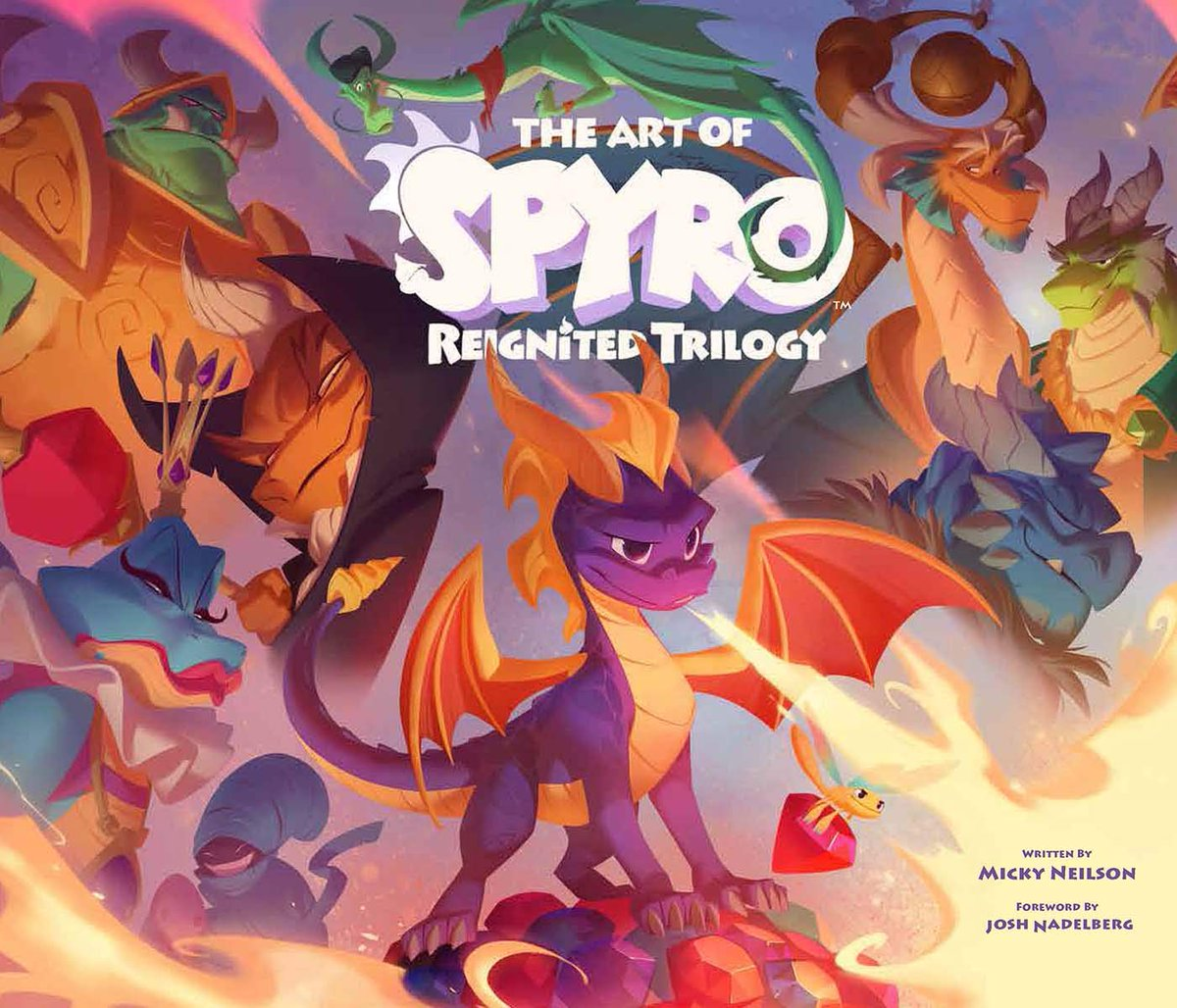 The Art of Spyro: Reignited Trilogy hardcover book preorder is $38.04 on Amazon (240 pages, cover art updated)