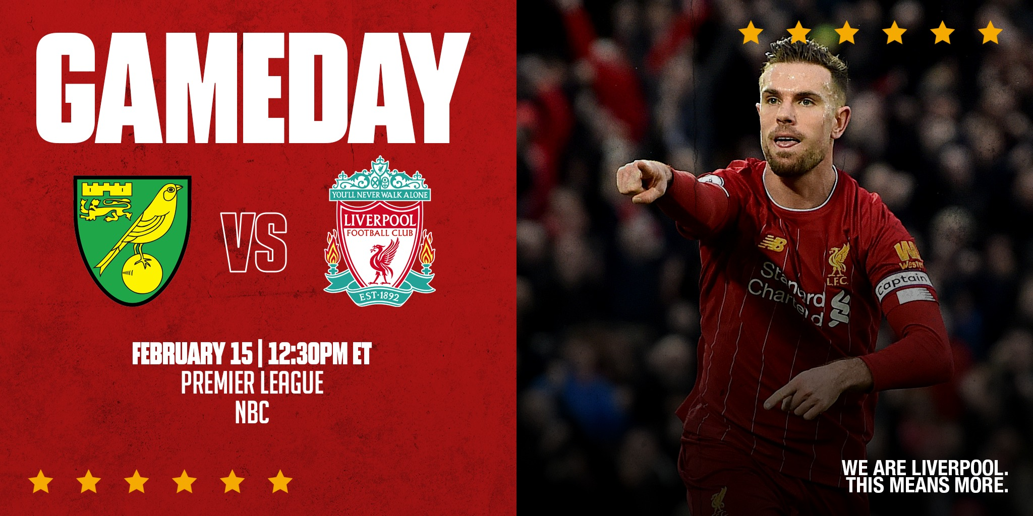 We've been waiting almost two weeks to say this...  🗣 IT'S GAMEDAY, REDS!  #NORLIV https://t.co/frb1vWfaXN