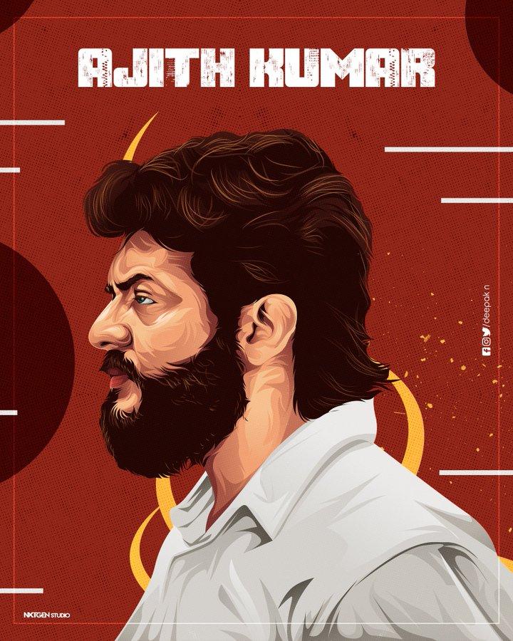 Recent Illustration work 🏃♂️🔥 #vintage #Thala  @deepakn0708 fayar da🔥 @nxtgen2k18 @ThalaAjith_FC @SSMusicTweet
