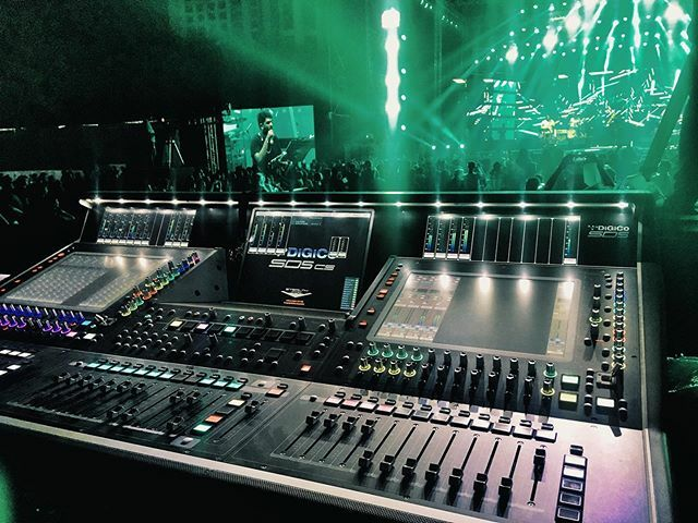 FOH for @sidsriram with @digico.official SD5 at Hyderabad. Thank you Reynolds and @mosesabhishek for amazing tech support.