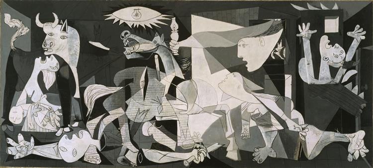 Pablo Picasso - Guernica, 1937 What do you think an artist is? He is at the same time a political being constantly alert to the horrifying, passionate or pleasing events in the world...No, painting is not made to decorate apartments. https://t.co/sMbw0V0nkA
