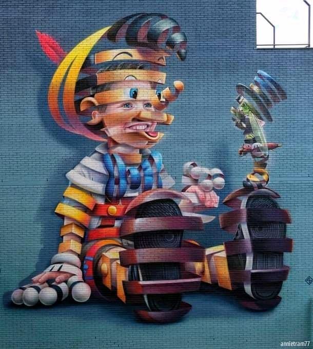 ... hi, cricket, it's me, do you see me? Below, inside... i'm a boy, a real boy. Art by Ruper A in Rotterdam #StreetArt #Art #Tales #Pinocchio #beauty #Graffiti #Mural #UrbanArt #Rotterdam https://t.co/rmc6fOjVWv