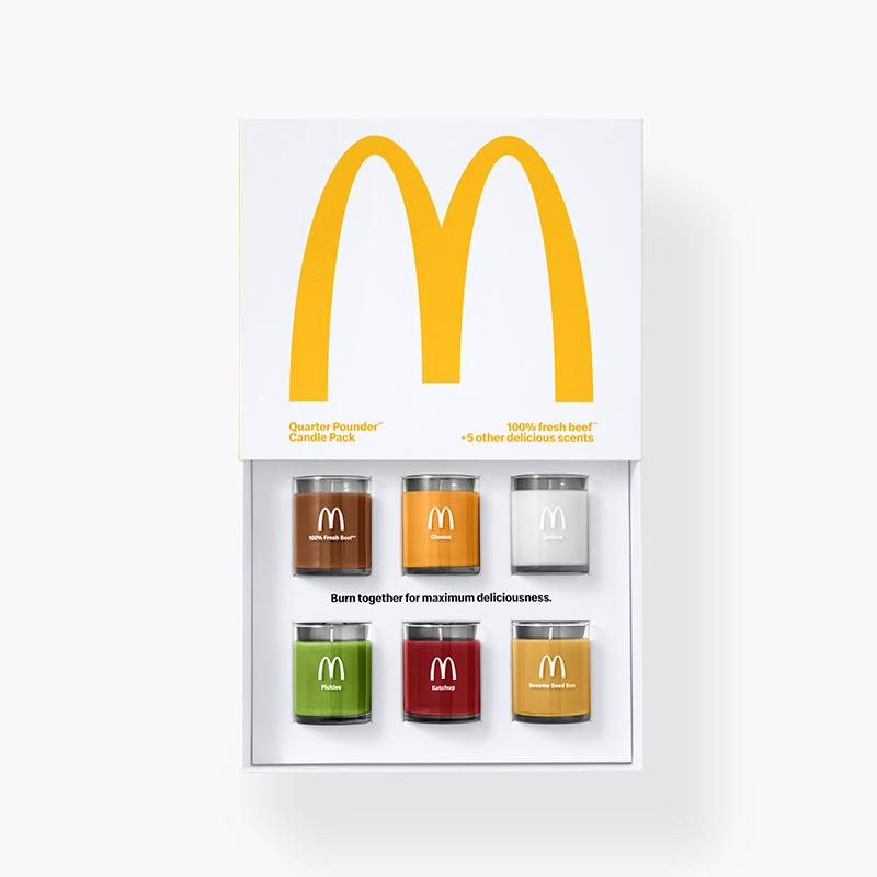 Ooh ooh that smell. Can't ya smell that smell. @McDonalds #quarterpounder candle set.   #trendstories #olfactorymarketing #FastFood #makesscense