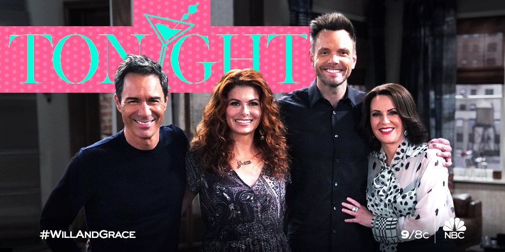 """Oh goodness!!  We are just 30mins away from a brand NEW episode of """"Will & Grace"""". 😃 #WillandGrace"""
