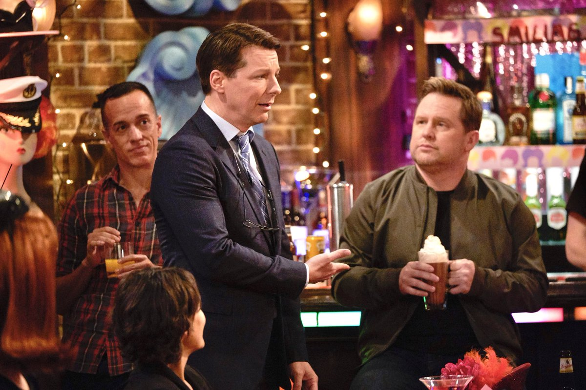 """Please help me give a warm """"Will & Grace"""" welcome to some great people tonight - including a very special person of mine! 😉.  Don't miss an all NEW episode coming your way at 9/8c on @nbc! #WillandGrace"""