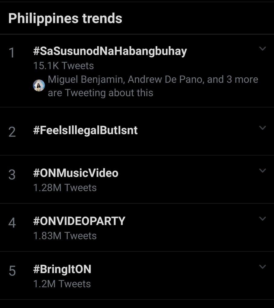 good morning! thank you for making #SaSusunodNaHabangbuhay trend at no. 1. love you all.