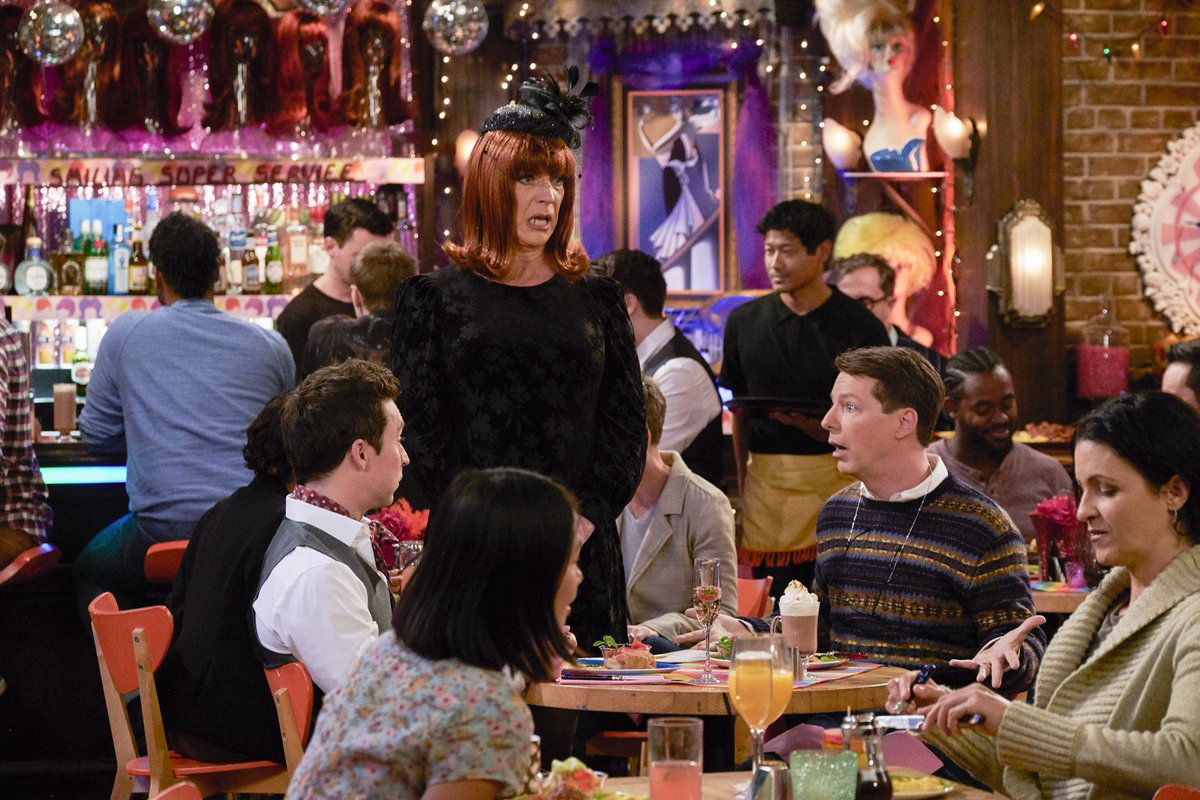 """Check out these fun snaps from tonight's NEW episode of """"Will & Grace"""".  Lots of familiar faces.  See if you can spot them all.  New episode tonight at 9/8c on @nbc. #WillandGrace"""
