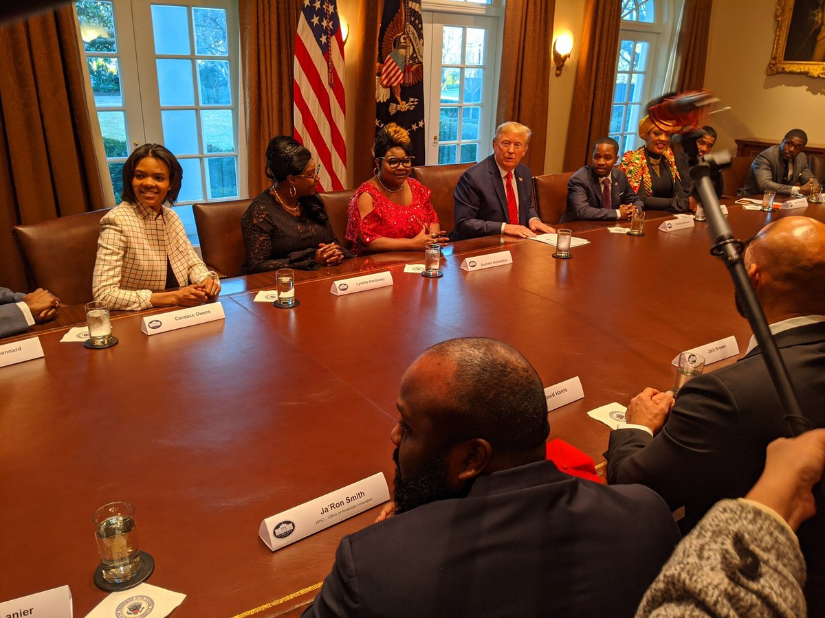 Wow.  I sat next to President @realDonaldTrump in the White House. I didn't expect to sit next to the Greatest President since Abraham Lincoln  I literally came from the Foster House to the White House.  Thank you so much President Trump you have changed my life & many others.