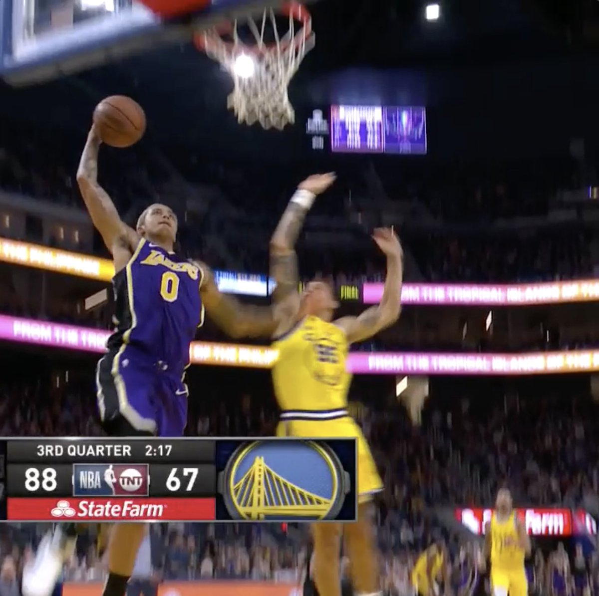 AD with the hustle. Kuz with the hammer. 🔥