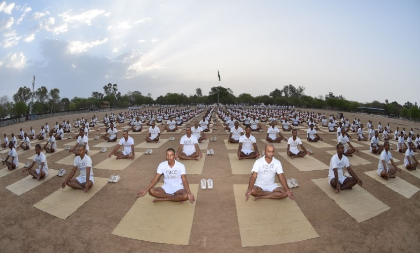 Yoga is the cessation of the fluctuations of the mind #CISF #training #makingofsoldiers