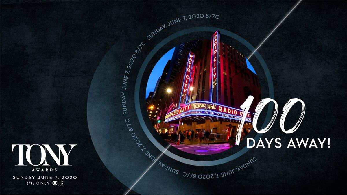 The countdown begins! #100Days #TonyAwards