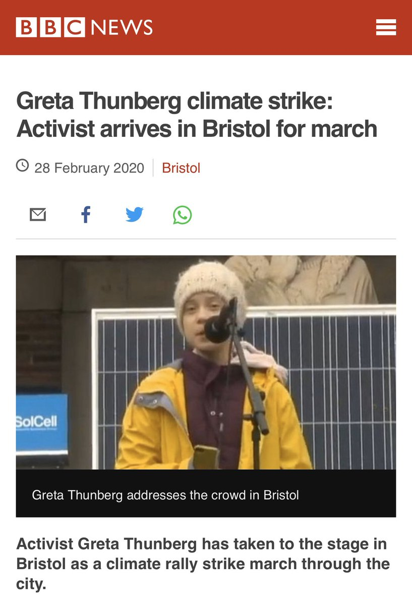 Has Greta cycled from Sweden to Bristol...? #JustAsking