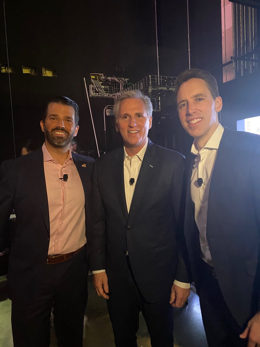 Backstage #CPAC2020 with @DonaldJTrumpJr and @GOPLeader about to talk #BigTech