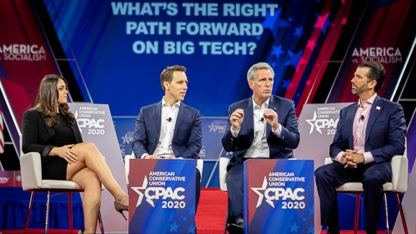 In the 2018 election, Google classified Republicans as Nazis.   Google amounts for 90% of all searches. We cannot allow big tech and liberal activists to put their thumb on the balance of public discourse.  #CPAC2020   @realDonaldTrump
