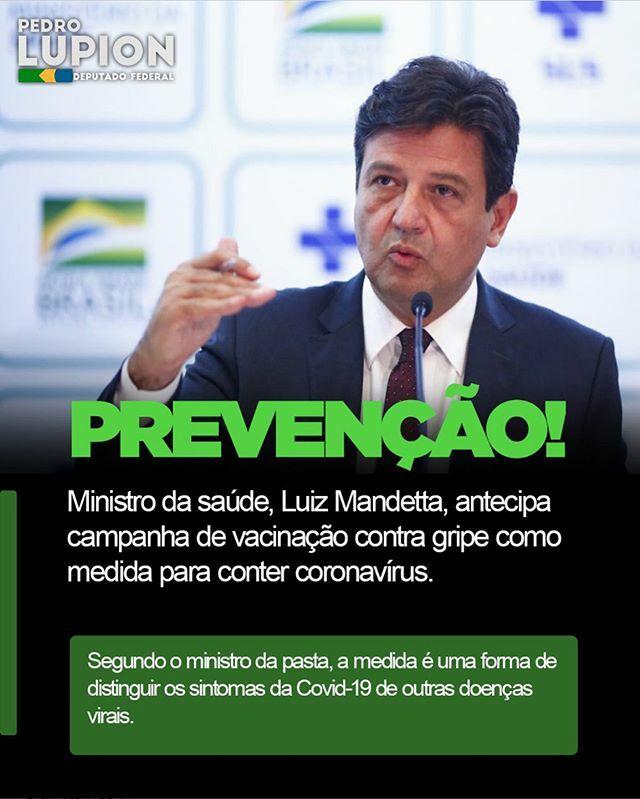 Prova de que o governo @jairmessiasbolsonaro e o ministro @henriquemandetta do @minsaude estão atentos e com trabalho efetivo para evitar qualquer surto do coronavirus no Brasil.  Estamos de olho!  #Brasilacimadetudo #coronavirus #saude #OBrasiljámudou #…