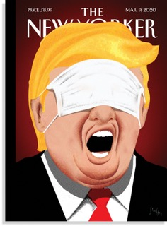 The new cover of the @NewYorker comments on #Trump and #COVID19
