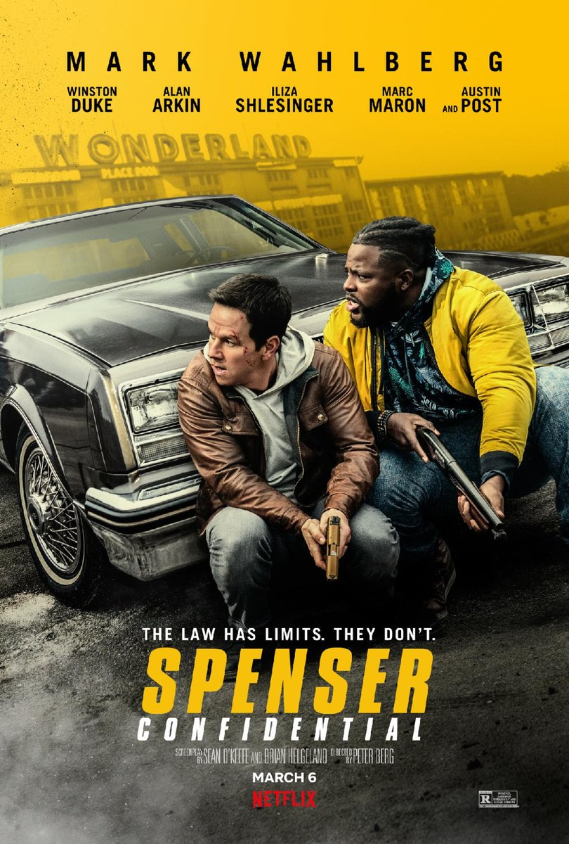 The poster for #SpenserConfidential, the upcoming Netflix action packed film, dropped today: