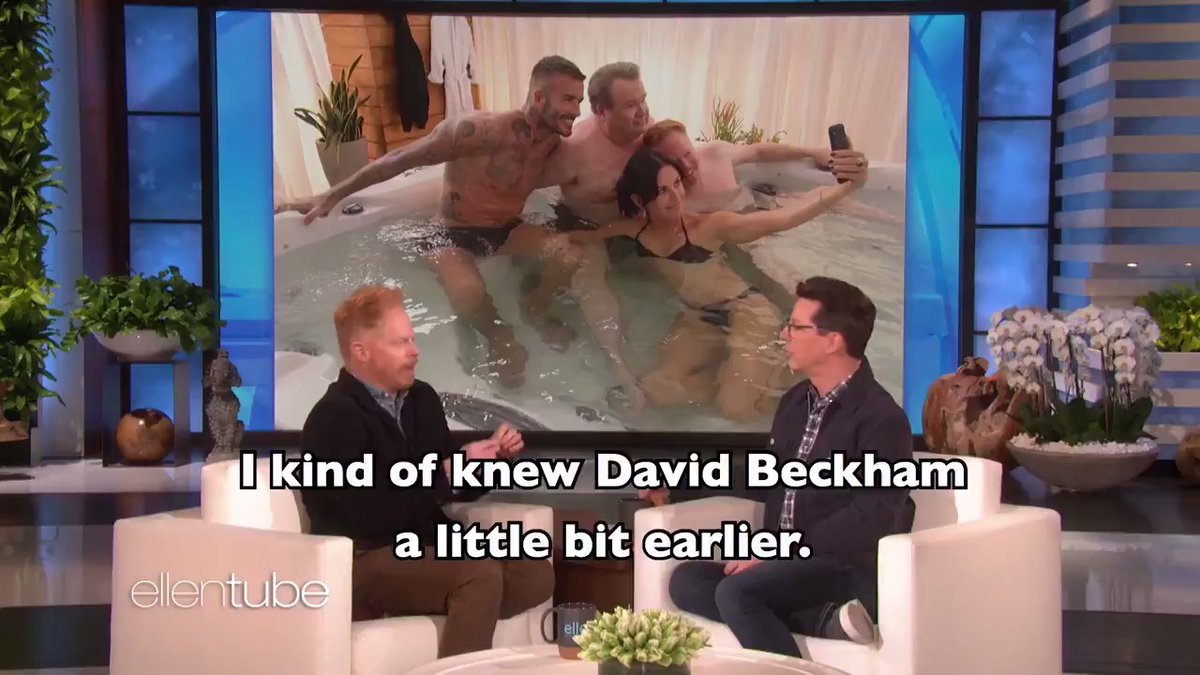 .@JesseTyler told me about canoodling with David Beckham in a hot tub, and becoming a dad for the first time. I promise those are unrelated.