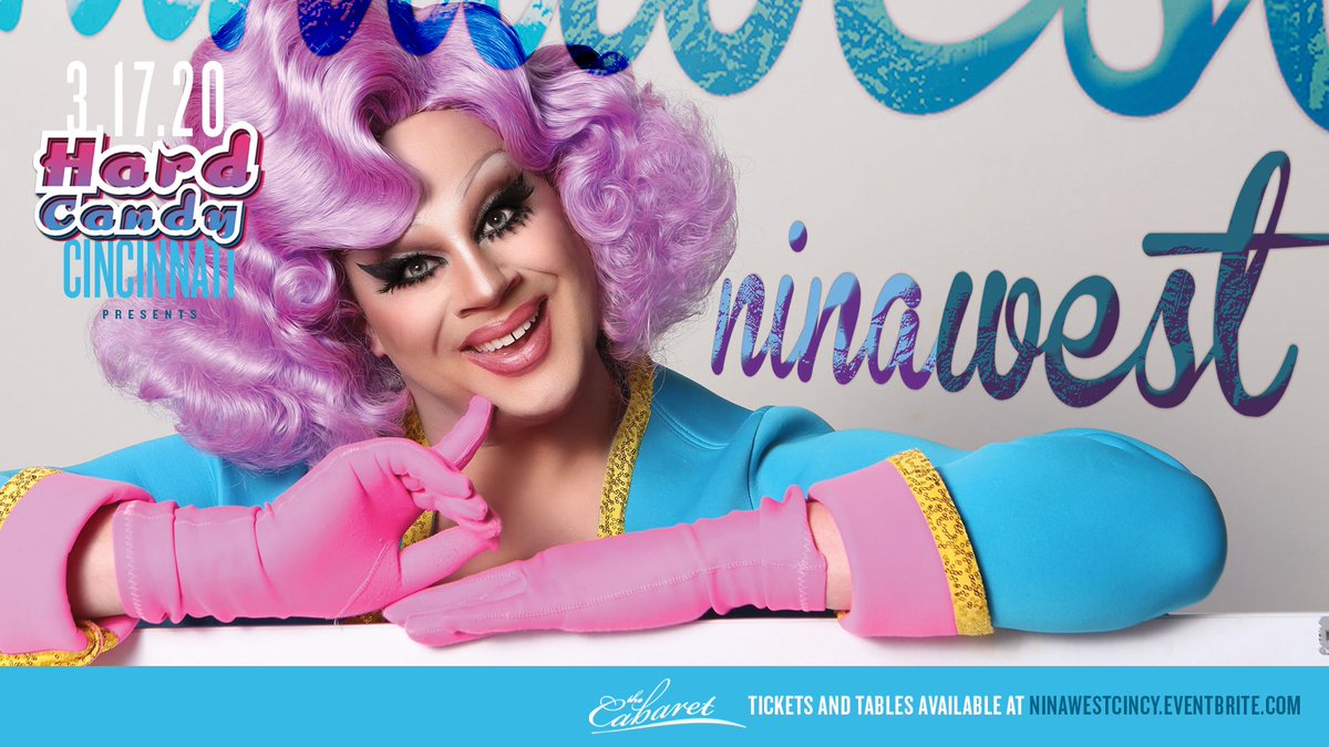 Our next @HardCandyKY event is Tuesday, March 17 with @NinaWest! Hosted by @PennyTration. Showtimes at 7 PM & 9 PM, snag tickets now at
