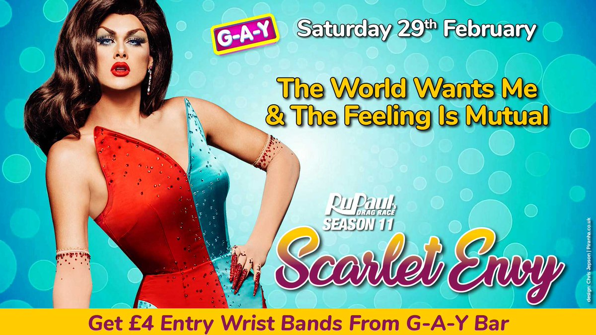 """""""The World Wants Me & The Feeling Is Mutual""""   Tomorrow At G-A-Y  @RuPaulsDragRace Season 11 @ScarletEnvyNYC   """"My Drag Is About Embracing The Beauty That You Were Blessed With.......  & I Happened To Be Very Blessed""""   Get £4 Entry Wrist Bands From G-A-Y Bar"""