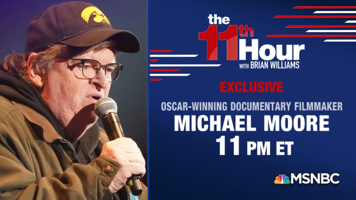 Programming notice: @MMFlint will join us tonight to discuss Trump, the 2020 campaign, and more!  Learn more:   #11thHour