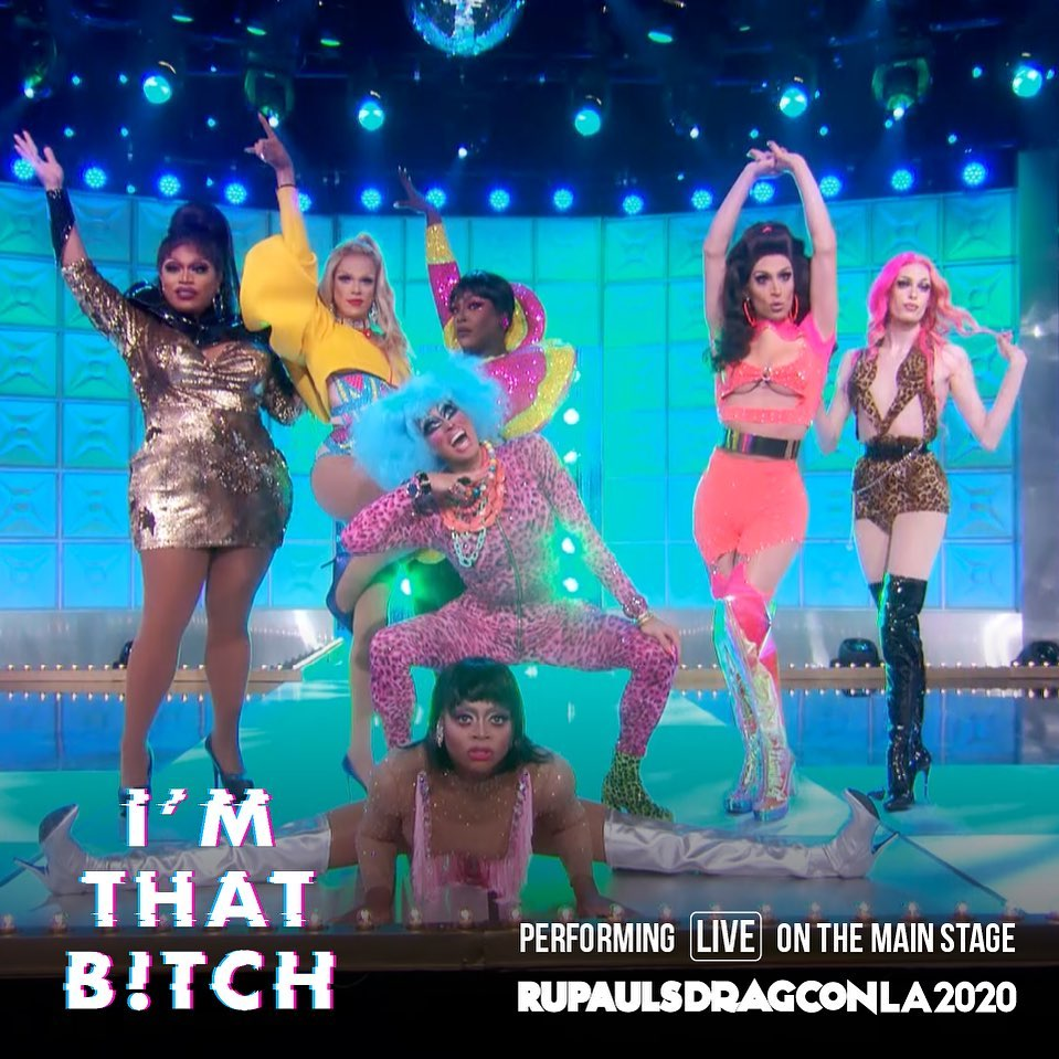 Slayana all day. 💅 Come see tonight's sickening seven #DragRace Season 12 sisters perform I'm That Bitch LIVE on the #DragConLA Main Stage this May! Lock your tickets down now and snatch 10% off through next Sunday w/ code: PREMIERE 👑 Snatch your tix: