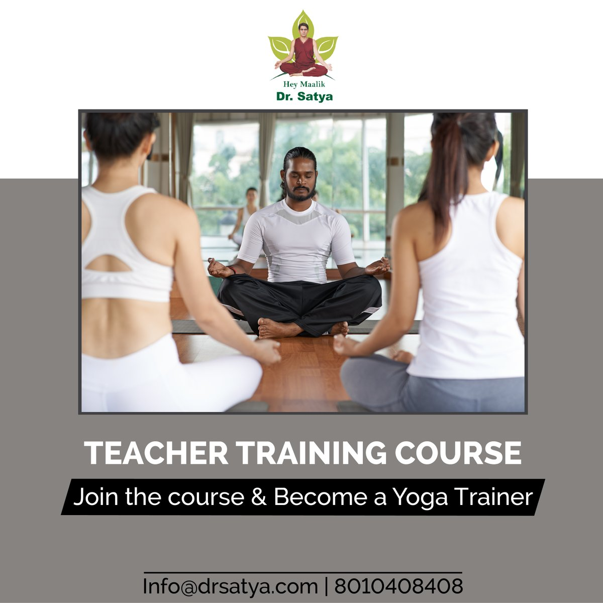 Become a certified yoga #teacher with 200hrs Dr. Satya's Yoga Teacher #Training #Course! Regular and Weekend classes available. For further details call us at 8010408408 OR Mail your query at info@drsatya.com #holisticcenter #wellness #yoga #love #healingcenter #vegan #origen