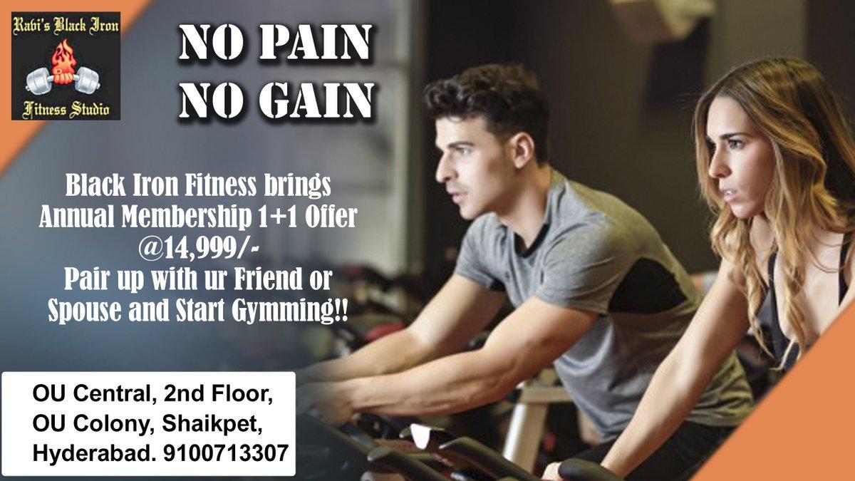 No Pain No Gain  Address- 8-1-284/OU/389, OU Central, 2nd Floor, OU Colony, Shaikpet, Hyderabad, Telangana 500008 Contact us:- 9100713307  #gym #fitness #workout #success #zero #muscle #bodyshape #bodybuilding #sweat #training #gymlife #muscle #blackirongym #manikonda