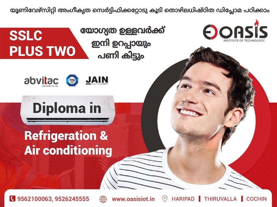 യൂണിവേഴ്സിറ്റി അംഗീകൃത സെർട്ടിഫിക്കറ്റോടു കൂടി തൊഴിൽ അധിഷ്ഠിതമായ ഡിപ്ലോമ കോഴ്സുകൾ.. വിളിക്കൂ...  Oasis Institute of Technology 📌 Haripad, Thiruvalla, Cochin ☎ 9562100063, 9526245555 #Diploma #Education #Training