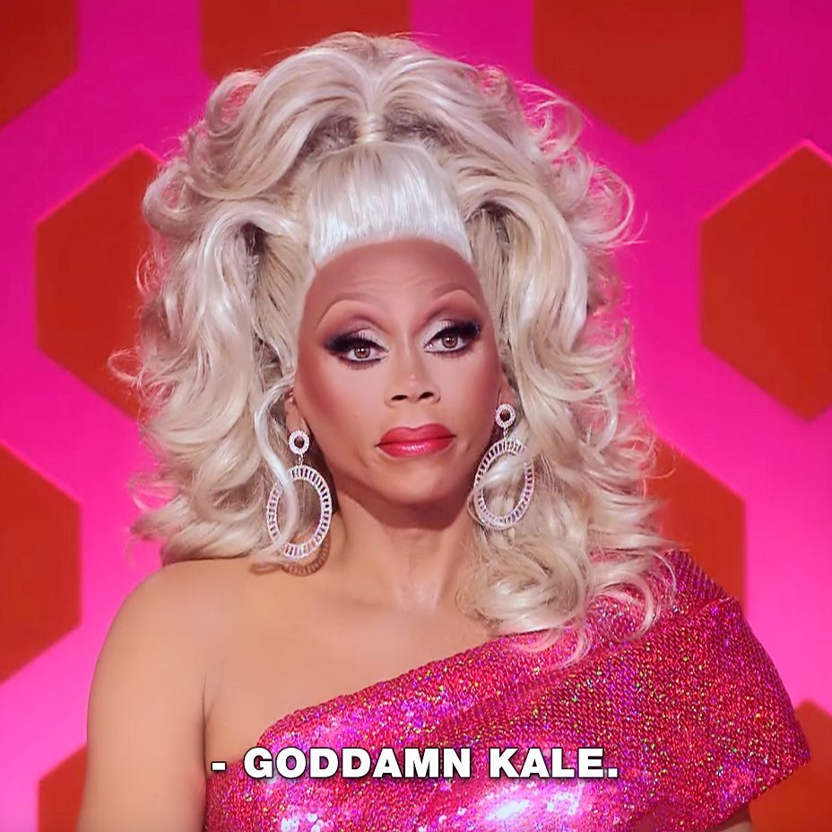 Kale is cancelled. 👑 @rupaul  Watch #DragRace NOW on @vh1 + in select territories on #WOWPresentsPlus. 💋 Don't forget, snatch 10% off your #DragConLA tix thru next weekend, just enter code: PREMIERE before selecting ticket level.
